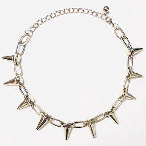 Unisex Punk Spikes Goth Necklace Choker